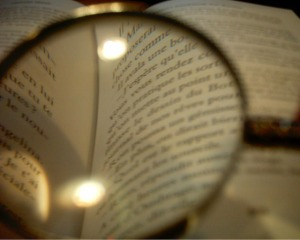 A book through a looking glass